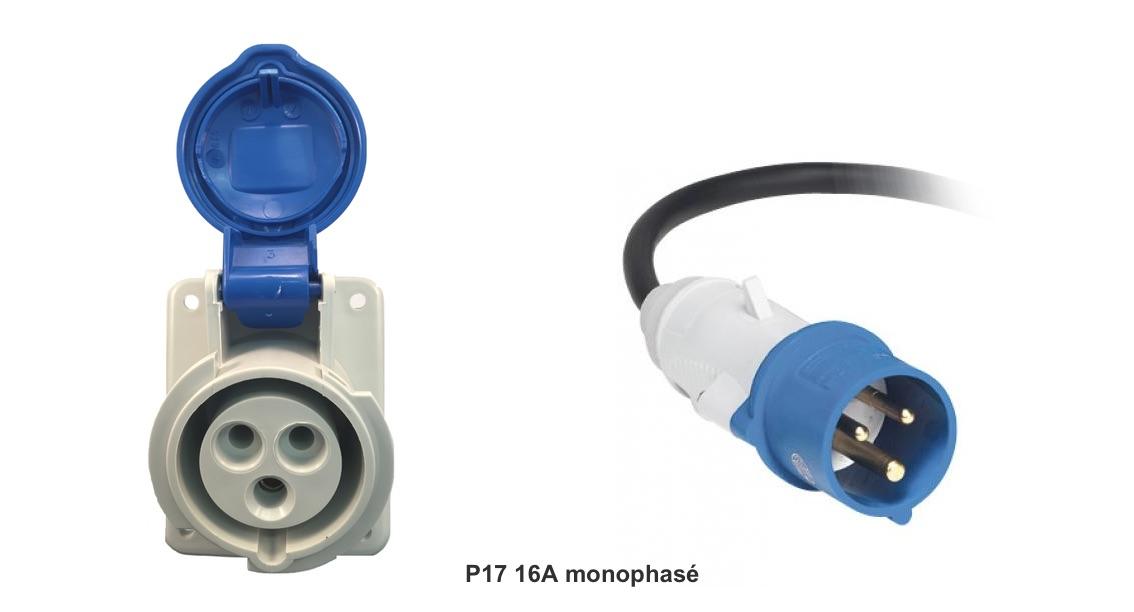 Prise P17 16A monophasé